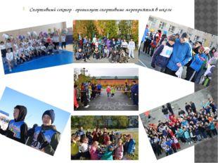 Спортивный сектор - организует спортивные мероприятия в школе