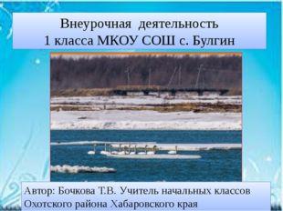 Внеурочная деятельность 1 класса МКОУ СОШ с. Булгин Автор: Бочкова Т.В. Учите
