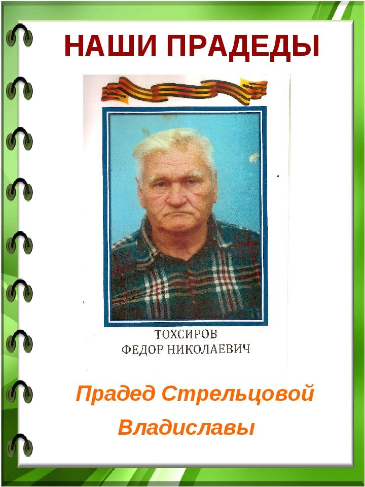 НАШИ ПРАДЕДЫ Прадед Стрельцовой Владиславы