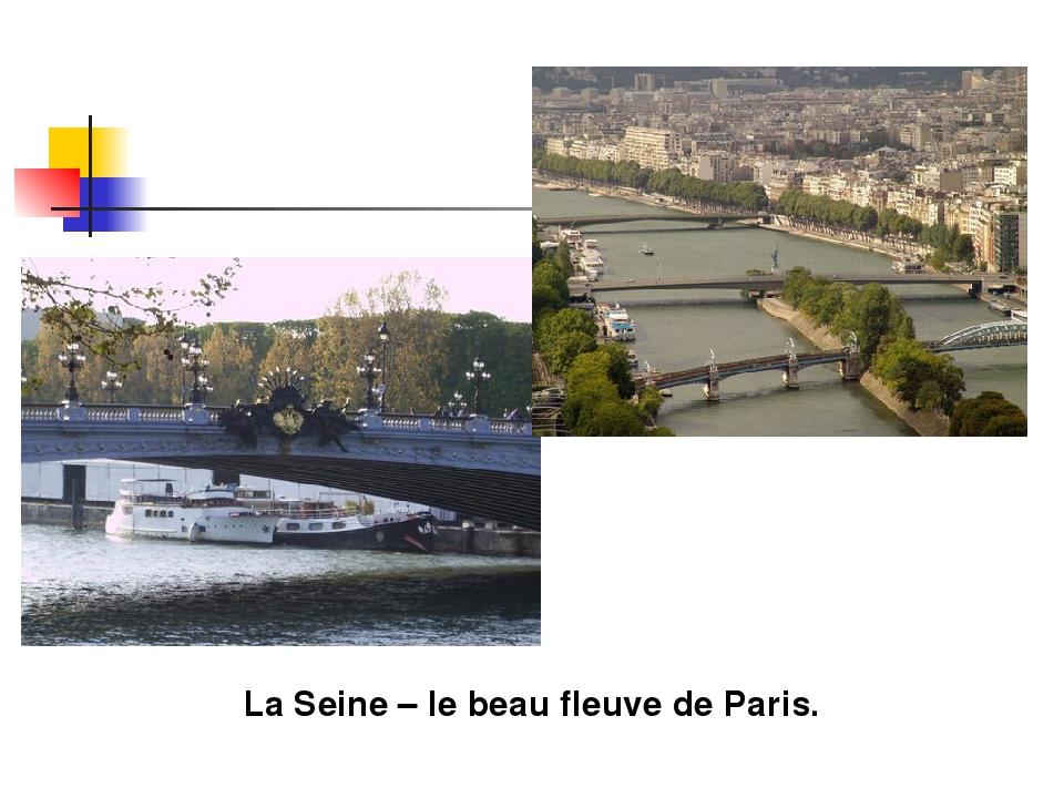 La Seine – le beau fleuve de Paris.
