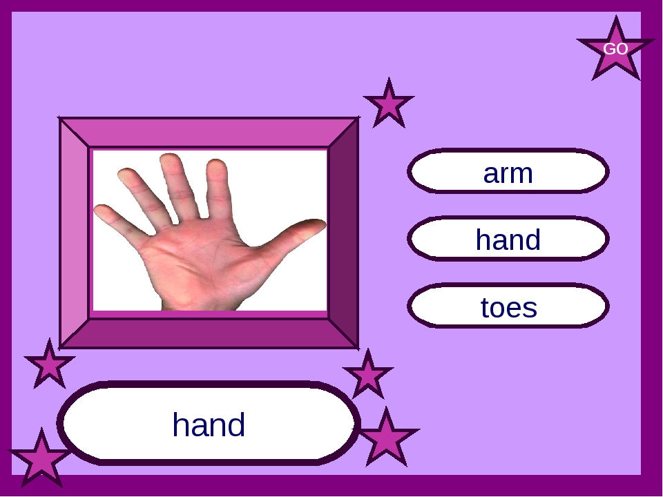 hand toes arm hand GO