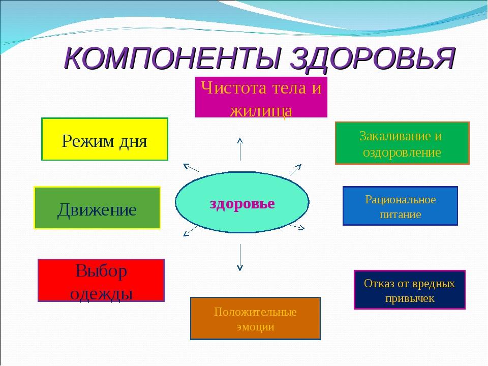 Составляющие культура здоровья школьников