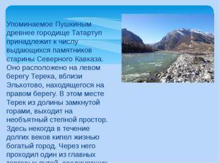 Упоминаемое Пушкиным древнее городище Татартуп принадлежит к числу выдающихся