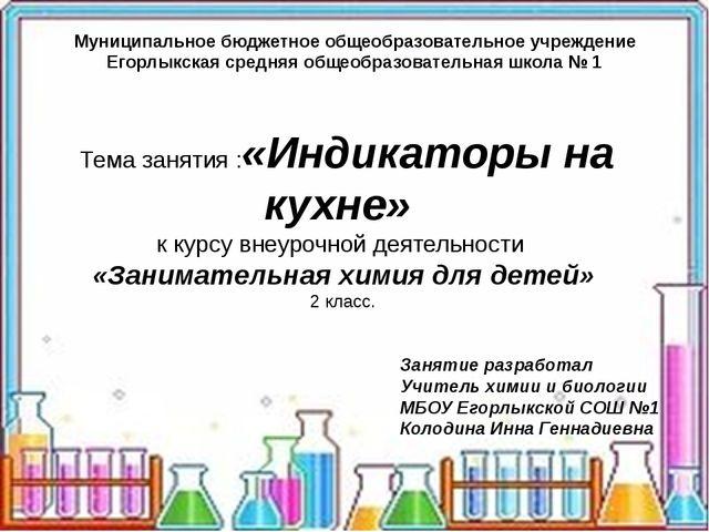 Муниципальное бюджетное общеобразовательное учреждение Егорлыкская средняя о...