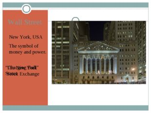 "Wall Street New York, USA The symbol of money and power. ""Charging Bull"" Stat"