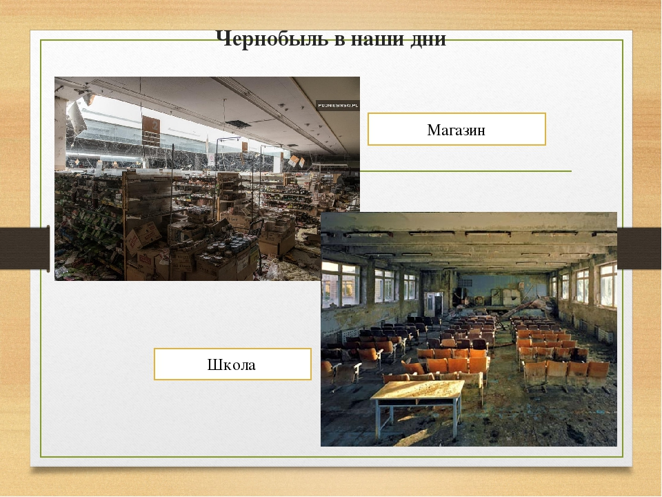 Чернобыль в наши дни Магазин Школа