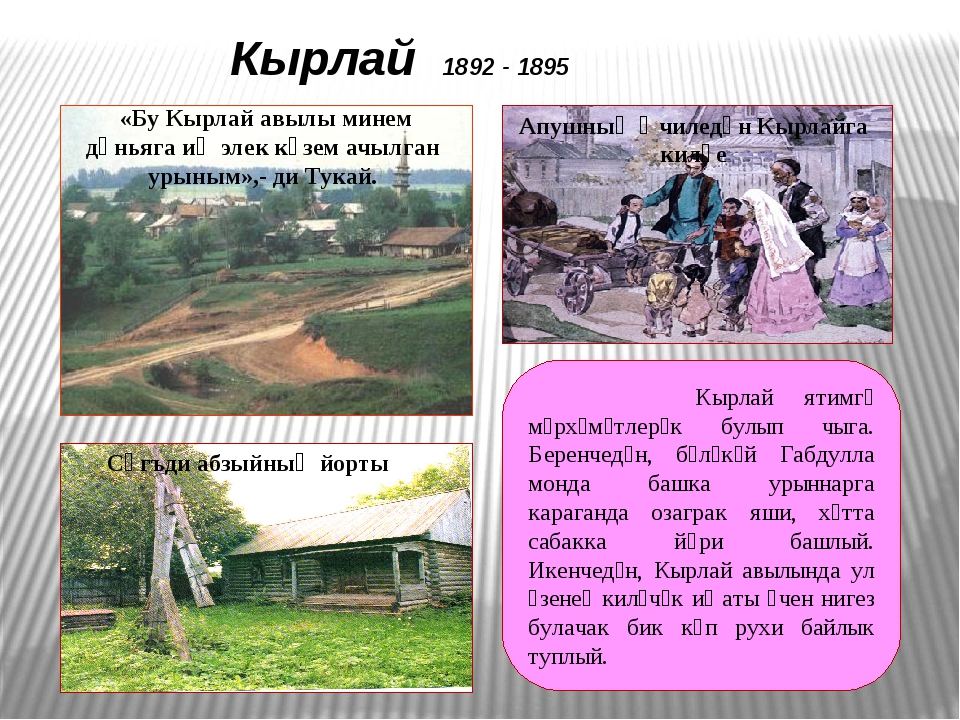 Уральск 1895 - 1907 Уральск шәһәрендә Тукайның унике ел гомере уза.