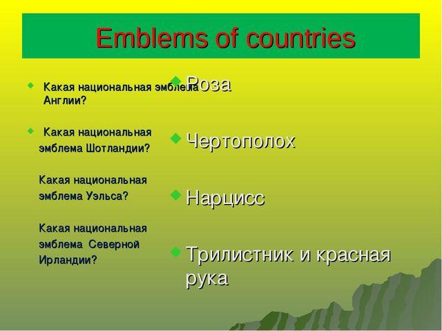 Emblems of countries Какая национальная эмблема Англии? Какая национальная э...