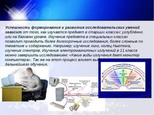 Успешность формирования и развития исследовательских умений зависит от того,