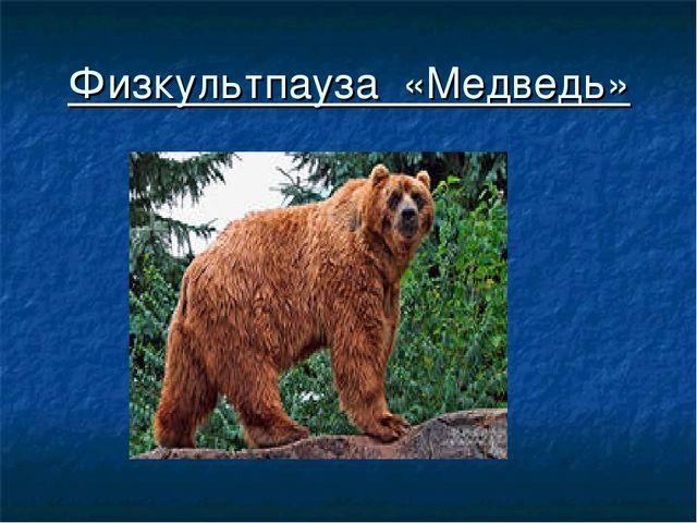 Физкультпауза «Медведь»