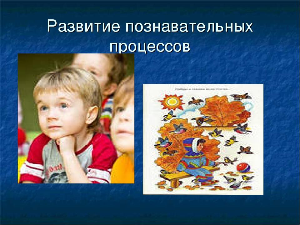 Развитие познавательных процессов