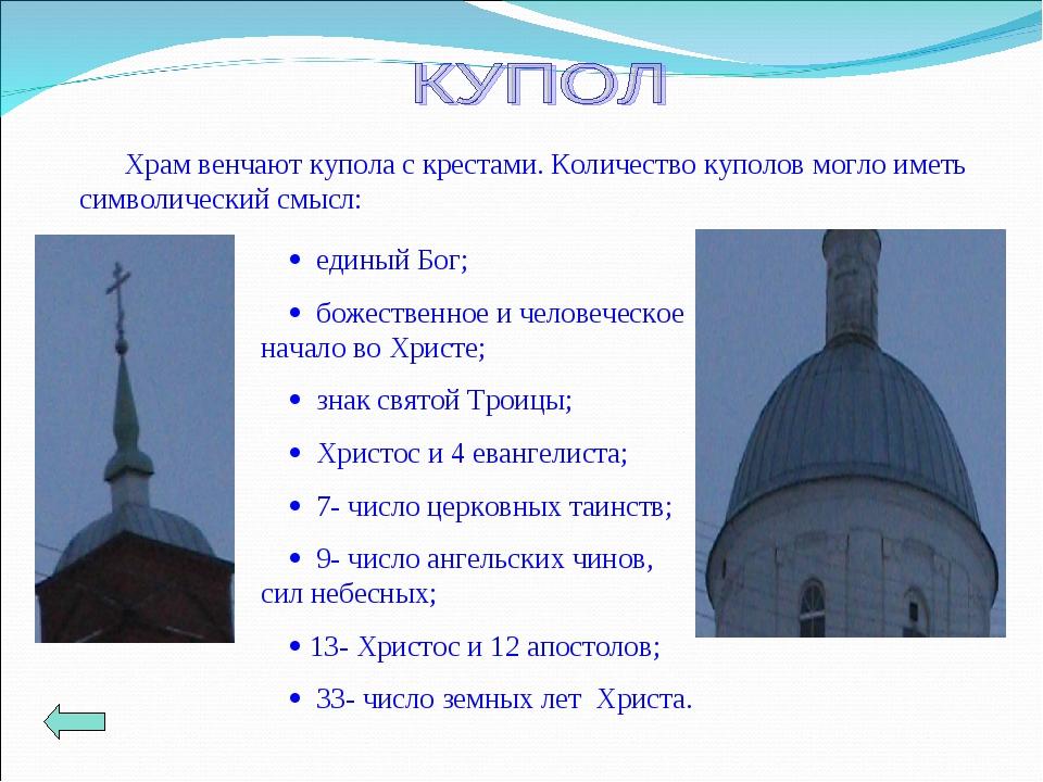 Храм венчают купола с крестами. Количество куполов могло иметь символический...