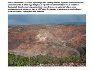 Новая пятилетка стала для Красноярского края временем бурного промышленного с