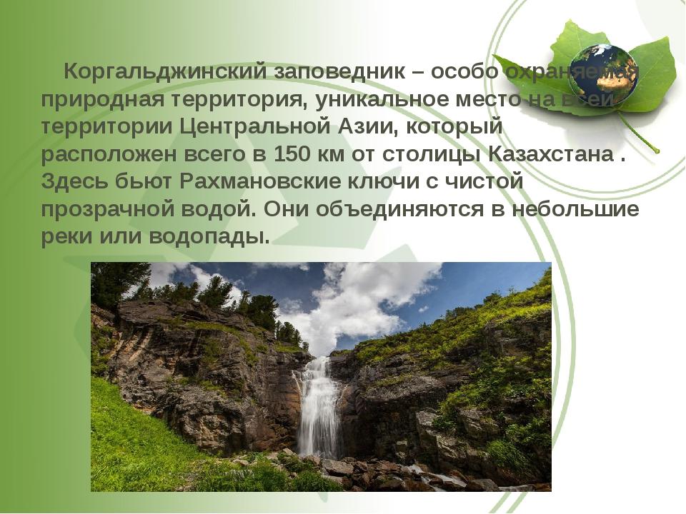 Коргальджинский заповедник – особо охраняемая природная территория, уникальн...