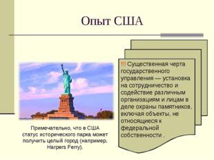 Опыт США !!! Существенная черта государственного управления — установка на со