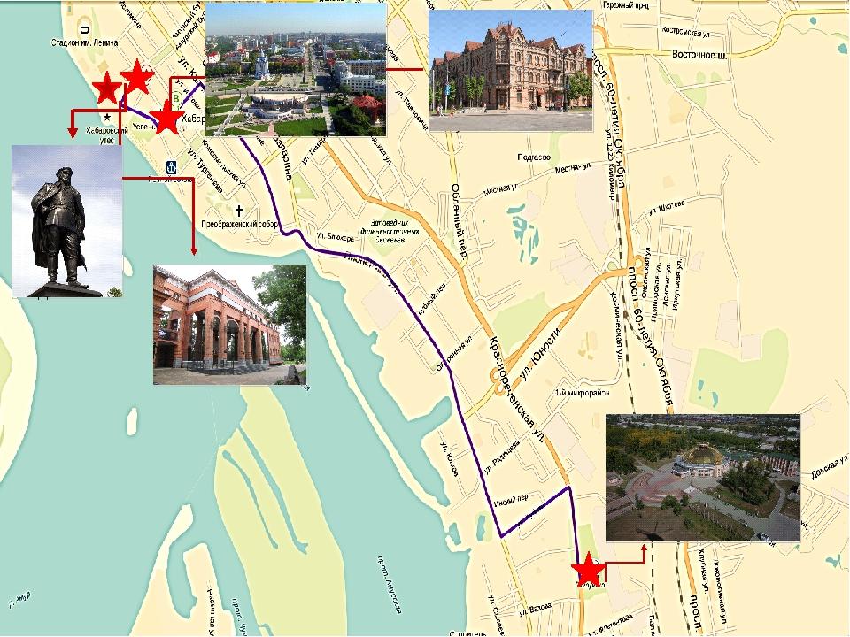 Научная библиотека Краеведческий музей Парк им. Ю.Гагарина ул. Муравье...