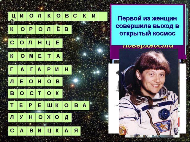 Кто из наших ученых явился основоположником космонавтики? Ц И О Л К О В С К И...