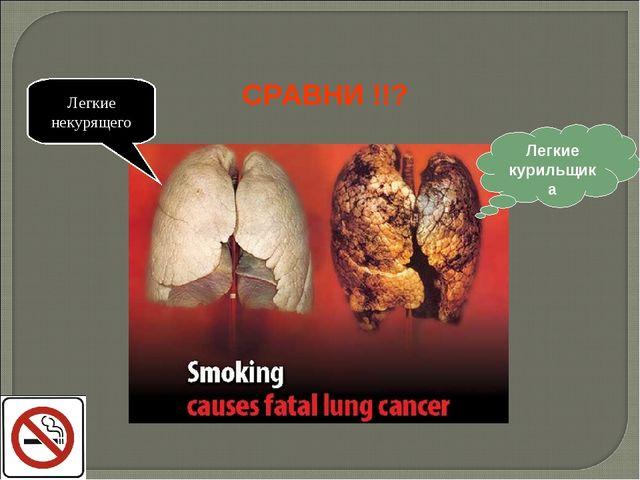 Легкие курильщика Легкие некурящего СРАВНИ !!?