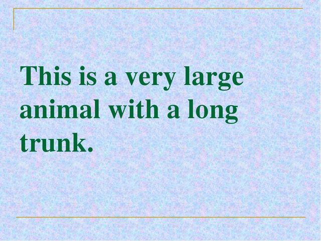 This is a very large animal with a long trunk.