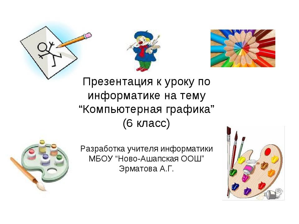 """Презентация к уроку по информатике на тему """"Компьютерная графика"""" (6 класс) Р..."""