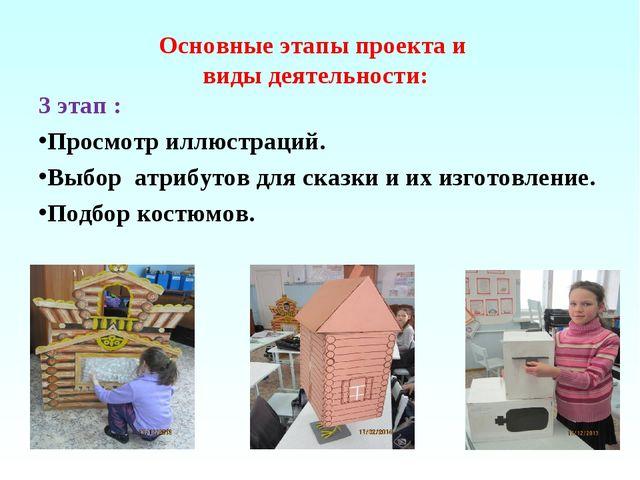 Основные этапы проекта и виды деятельности: 3 этап : Просмотр иллюстраций. Вы...