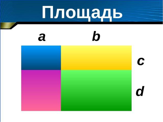 Площадь b a c d