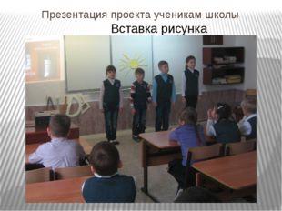 Презентация проекта ученикам школы