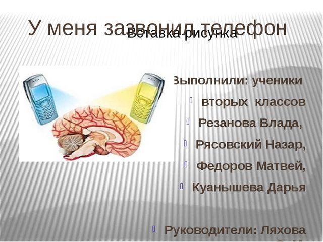 Выполнили: ученики вторых классов Резанова Влада, Рясовский Назар, Федоров Ма...