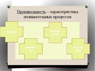 Произвольность – характеристика познавательных процессов внимания воображения