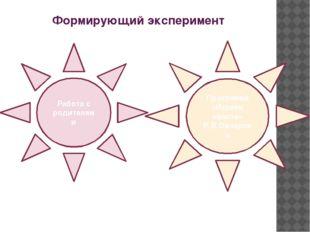 Формирующий эксперимент Работа с родителями Программа «Играем вместе» Р.В.Овч