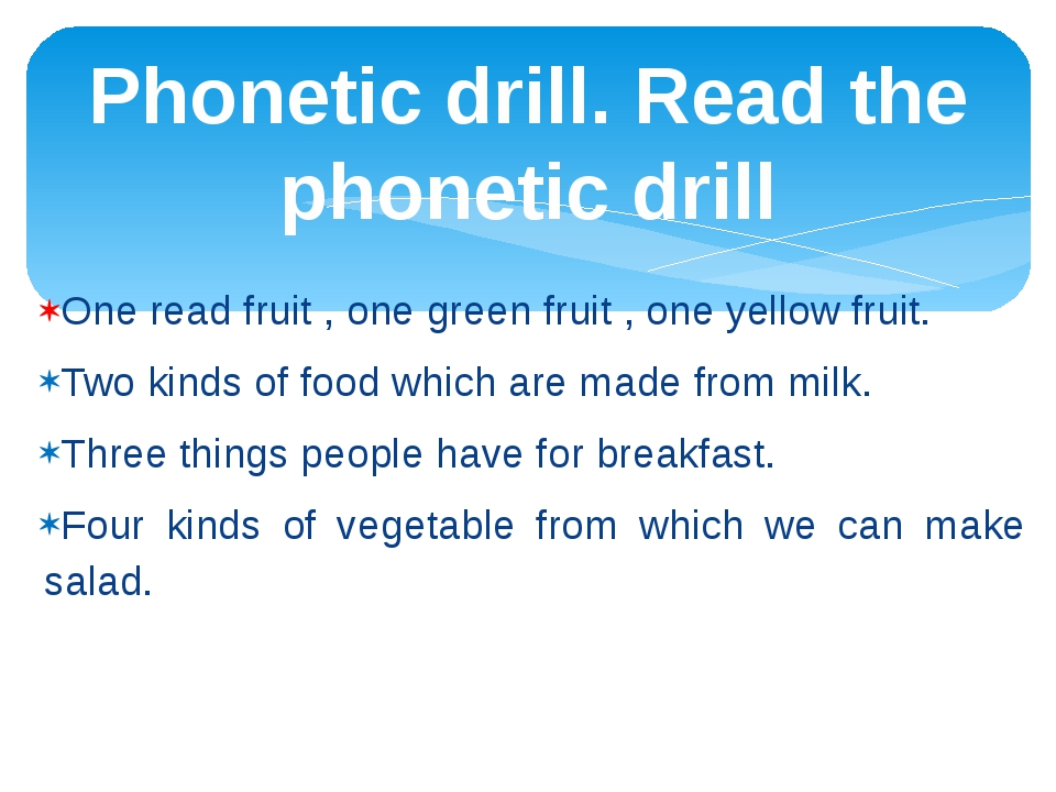 One read fruit , one green fruit , one yellow fruit. Two kinds of food which...