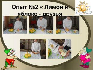Опыт №2 « Лимон и яблоко - друзья FokinaLida.75@mail.ru