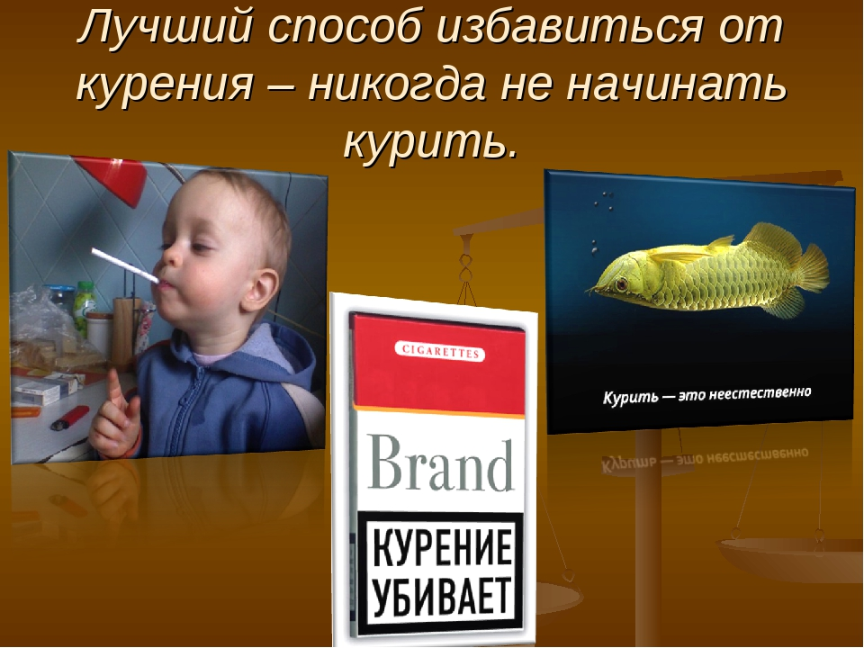 Лучший способ избавиться от курения – никогда не начинать курить.