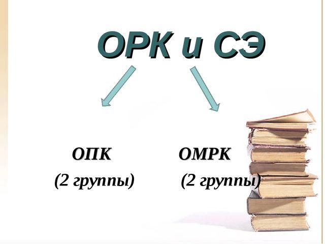 ОРК и СЭ ОПК ОМРК (2 группы) (2 группы)