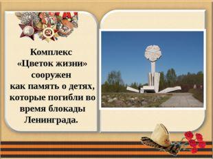 Комплекс «Цветок жизни» сооружен как память о детях, которые погибли во время