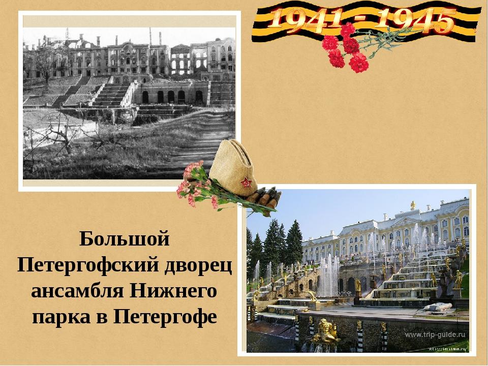 Большой Петергофский дворец ансамбля Нижнего парка в Петергофе