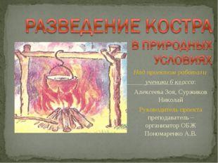 Над проектом работали ученики 6 класса: Алексеева Зоя, Суржиков Николай Руков