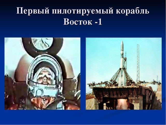 Первый пилотируемый корабль Восток -1