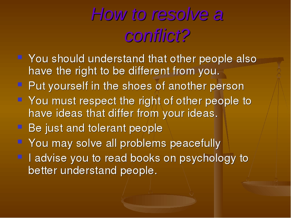 how to identify and resolve conflicts The good thing about conflict is that it's always resolvable learn how to overcome and prevent negative conflict from happening in your workplace the source of the problem is usually easier to identify and therefore rectify for these smaller groups, encourage healthy debate and dialogue as a.