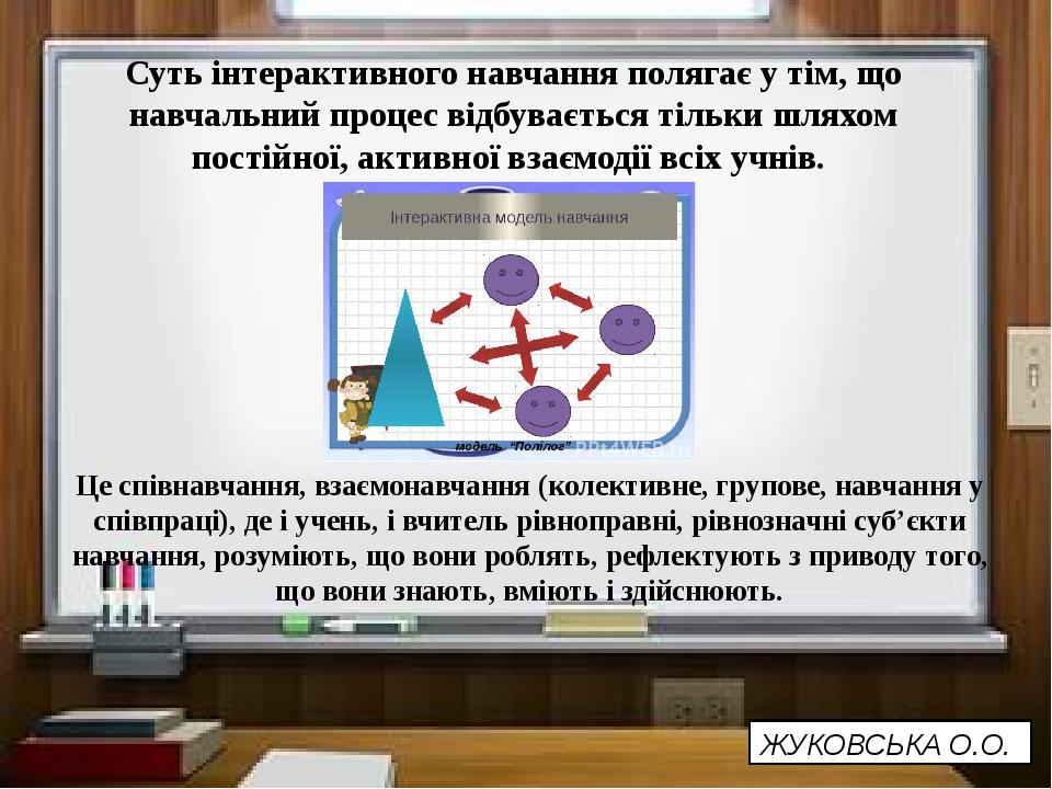 Суть інтерактивного навчання полягає у тім, що навчальний процес відбуваєтьс...