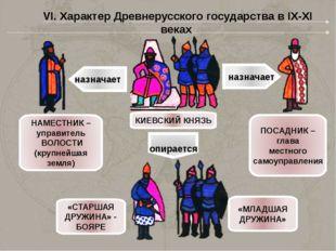 назначает назначает КИЕВСКИЙ КНЯЗЬ НАМЕСТНИК – управитель ВОЛОСТИ (крупнейшая