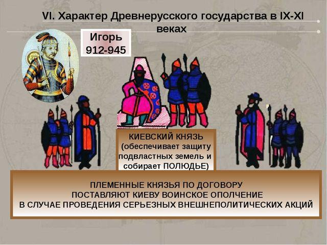 КИЕВСКИЙ КНЯЗЬ (обеспечивает защиту подвластных земель и собирает ПОЛЮДЬЕ) ПЛ...