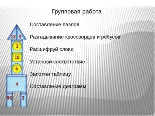 Составление пазлов Разгадывание кроссвордов и ребусов Расшифруй слово Установ