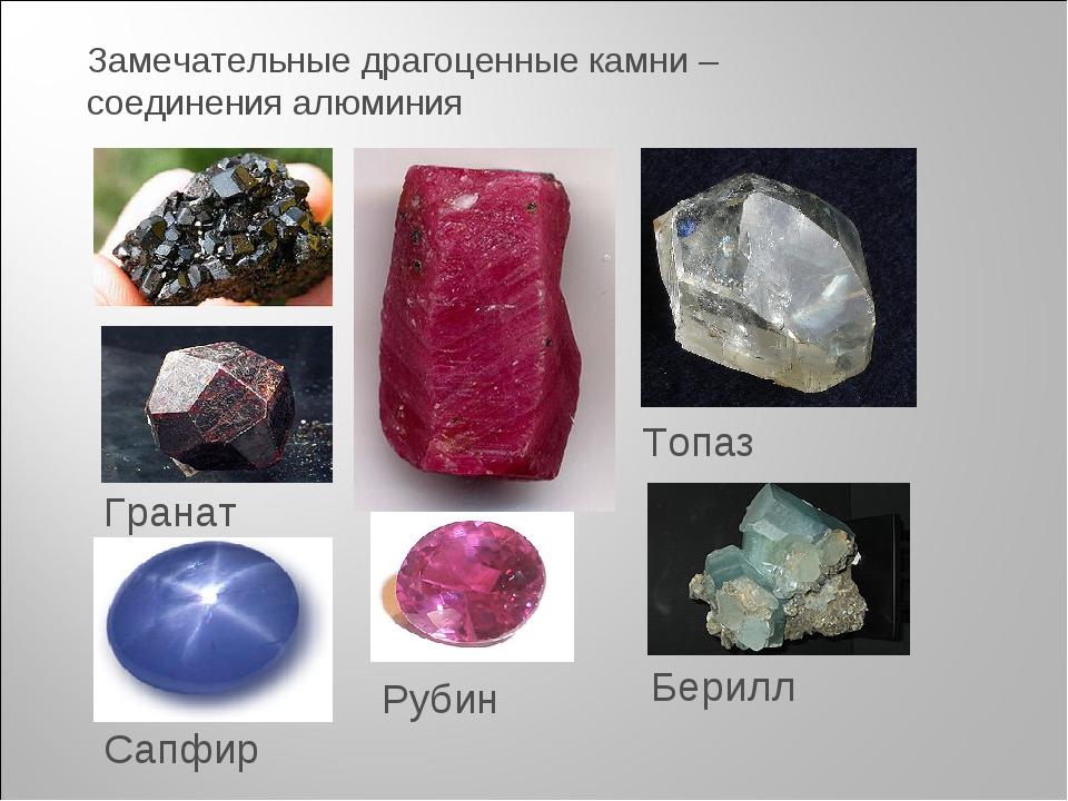 Рубин Топаз Берилл Гранат Сапфир Замечательные драгоценные камни – соединения...
