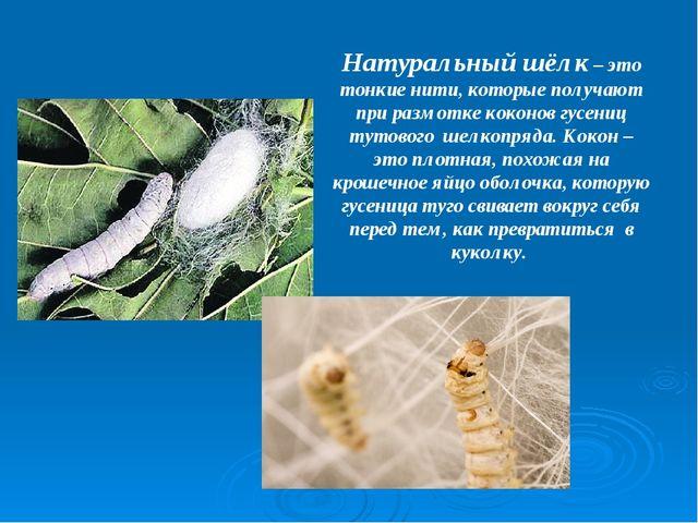 Натуральный шёлк – это тонкие нити, которые получают при размотке коконов гус...