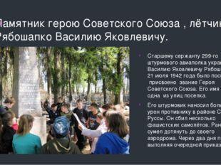 Памятник герою Советского Союза , лётчику, Рябошапко Василию Яковлевичу. Стар
