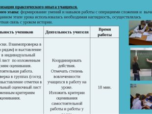 IV. Актуализация практического опыта учащихся. Цель данного этапа: формирова