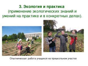 3. Экология и практика (применение экологических знаний и умений на практике