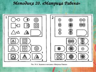 Методика 20. «Матрица Равена»