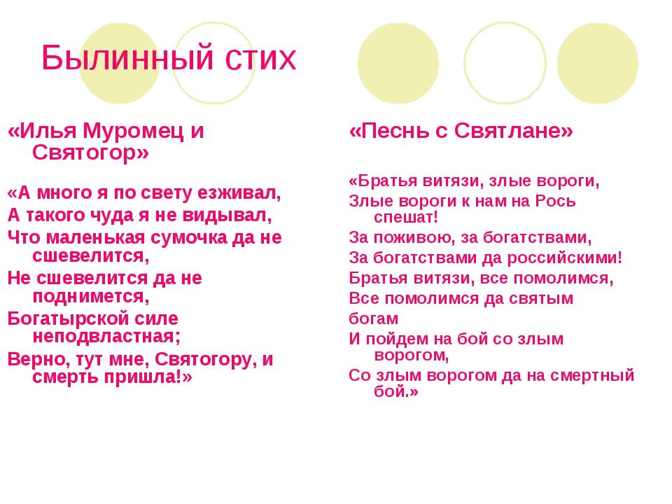 Былинный стих «Илья Муромец и Святогор» «А много я по свету езживал, А такого...
